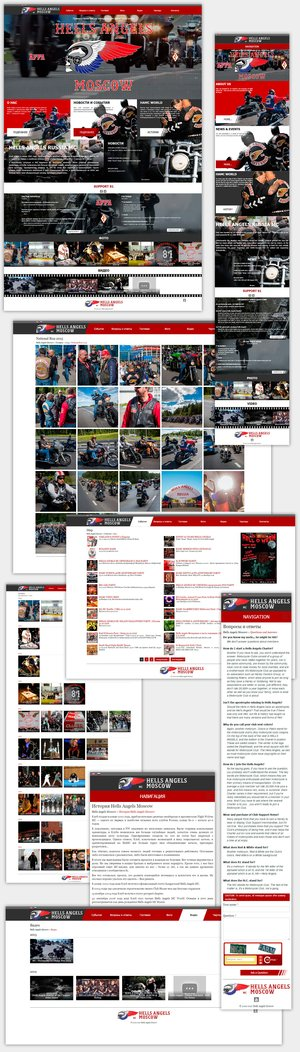 Official site moto club Hells Angels Moscow